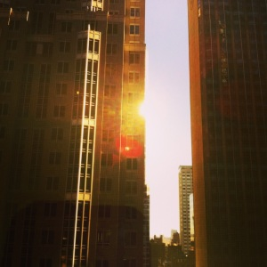 Good morning New York from the Times Square Sheraton.