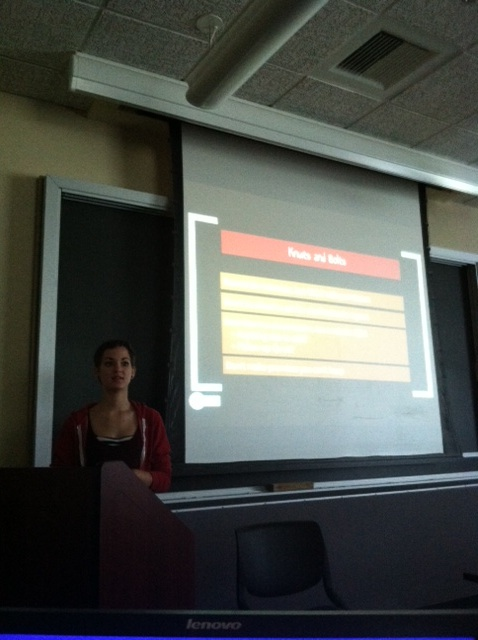 News Editor Sarah Hansell gives a workshop on interviewing