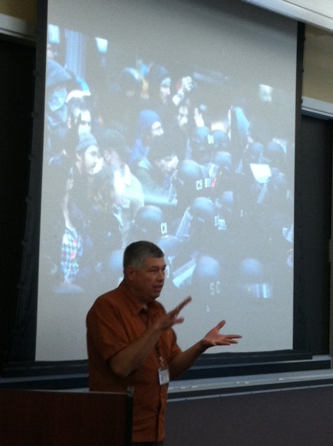 "Oregonian Photojournalist Randy Rasmussen tells the story behind his iconic ""Occupy Portland"" shot."