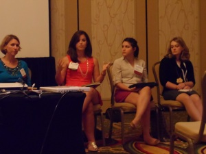 Nicole Comperato (UNC, Chapel Hill), Samantha Vicent (Oklahoma St. University), Katie Taggert (Otterbein)