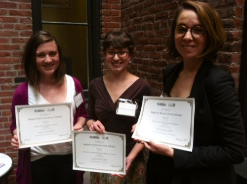 Beacon editor-in-chief Kelsey Thomas, reporter Nastacia Voisin and reporter Olivia Alsept-Ellis attended the May 3 regional SPJ conference, where The Beacon won three awards.