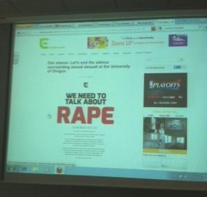 Rape presenatation UO
