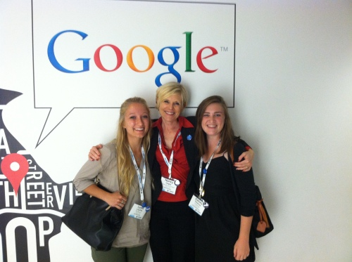 Beacon Opinions Editor Lydia Laythe, Adviser Nancy Copic and Beacon Editor in Chief Kelsey Thomas at Google's Chicago office during ONA14