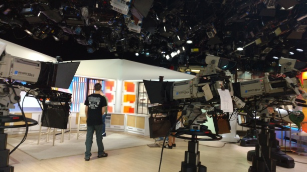 Behind the scenes at the Today Show.