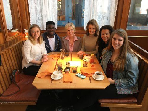 The Beacon NY delegation: Cheyenne Schoen, Ben Arthur, Nancy Copic, Clare Duffy, Malika Andrews and Rachel Rippetoe