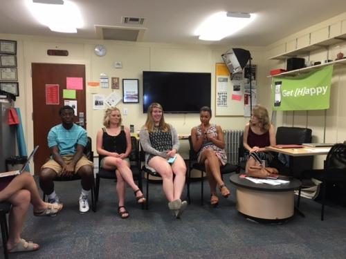 Ben Arthur, Cheyenne Schoen, Rachel Rippetoe, Malika Andrews and Clare Duffy share their experiences from their summer internships
