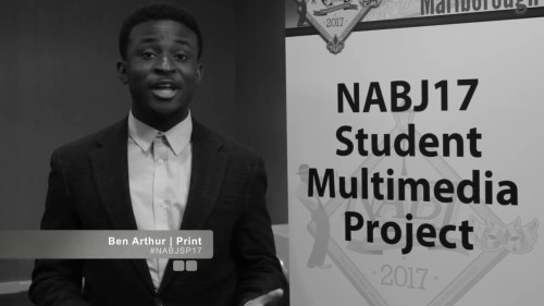 Ben black and white NABJ