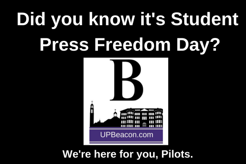 Student Press Freedom Day lawn sign