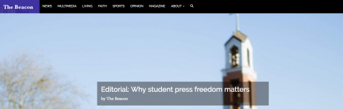 Student press Freedom home page top 2019